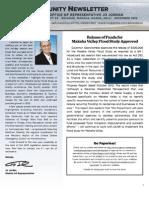 Rep. Jo Jordan's December 2012 Newsletter