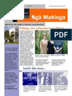 Ngā Mahinga - Student Newsletter, Dec 2012 to Jan 2013