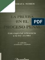 Prueba en el Proceso Penal, de Jose Cafferata Nores