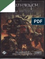 WH40K RPG Deathwatch Rites of Battle