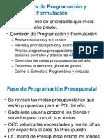 FASES DE FORMULACION PRESUPUESTAL PERU