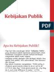 kebijakan publik