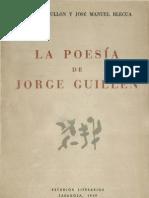 La poesía de Jorge Guillén (dos ensayos)