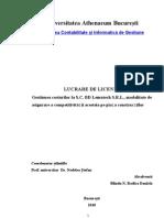 Gestiunea Costurilor La Sc Bd Lemntech