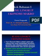 Ekonomi Makro-1 Ruang Lingkup