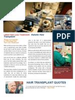 Robotic Hair Transplant - The Future of Hair Transplant Industry