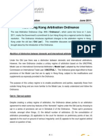 Hong Kong arbitration ordinance new and old