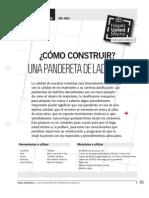 CONSTRUCCION DE UNA PANDERETA