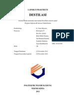Destilasi Pilot Plant