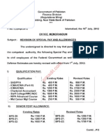Special Pay Allowance 2012 2