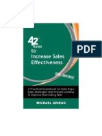 42 Rules to Increase Sales Effectiveness (2nd Edition)