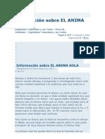 Información sobre EL ANIMA SOLA