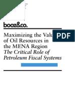 BoozCo Maximize Value Oil Resources MENA