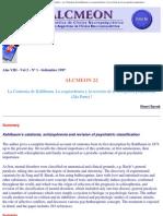 Alcmeón - Revista Argentina de Clínica Neuropsiquiátrica - La Catatonia de K