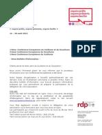 2nd EGSC14 Information Bulletin FR