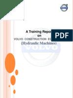 Training Report on Volvo Construction Equipment