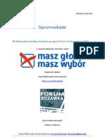 Sprawozdanie III RKP-WP 2011