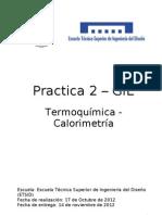 Practica 2 - Calorimetria-Memoria