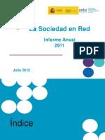 """Informe Anual """"La Sociedad en red 2011"""" (Edición 2012)"""