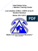 Cold Weather (CWLC, CWOC & ALIT) Student Handout, Winter 2011 - 2012 (Ed. 11, Oct2011)
