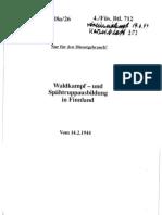 Merkblatt 18a-26 Waldkampf- und Spähtruppausbildung in Finnland (Feb 1944)