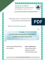 Pouvoirs financiers du parlement au Bénin