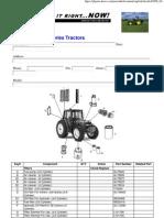John Deere 6000 Series Inspection Serviceparts Checklist (15Sep04)