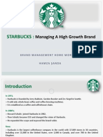 STARBUCKS-Managing A High Growth Brand