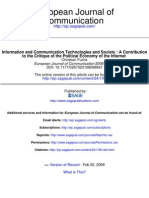 Fuchs_2009_Information and Communication Technologies and Society a Contribution to the Critique of the Political Economy of the Internet