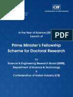 PM Fellowship Scheme - Brouchure
