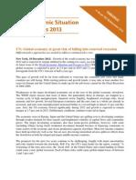 UN - World Economic Situation & Prospects 2013
