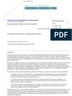 Revista de Investigación en Psicología - Procesos cognitivos y desempeño lec
