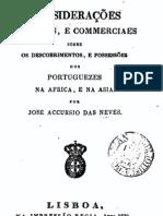 Considerações políticas e comerciais sobre os Descobrimentos e possessões dos Portugueses na África e na Ásia, por José Accursio das Neves