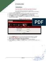 WL556E Firmware Upgrade Instructions