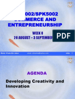 SPE3002 Entrerpeneurship - Creativity and Innovation w8[1]