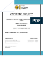 Cooling Water and Treatment Plant for Power Plant-capstone Project -i
