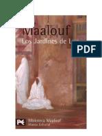 maalouf, amin - los jardines de luz - novela histórica
