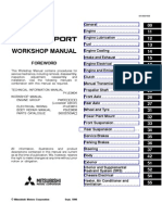 Pajero Sports Workshop-Service Manual 1999