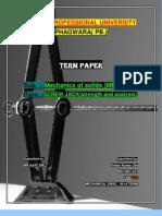 Termpaper-strength Analysis of Screw Jack-mechanics of Solids