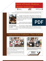Brown Family Medicine Alumni Association Newsletter Fall '12