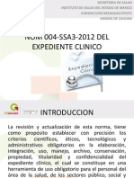 Nom 004-Ssa3-2012 Del Expediente Clinico