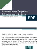 Intervenciones Grupales a Intervenciones Sociales