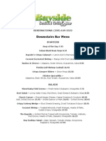 BAYSIDEDownstairs Bar Menu10.12