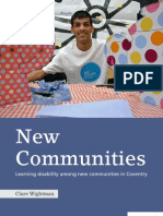 New Communities, learning disability among new communities in Coventry