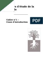 Cahiers D'etudes N°01