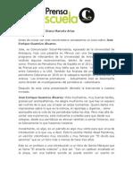 Conversatorio sobre crónica a cargo del periodista José Enrique Guarnizo Álvarez Mayo 25 del 2012