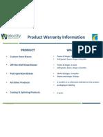 Warranty Information B&S