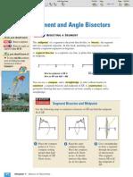 ML Geometry 1-5 Segment and Angle Bisectors