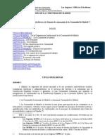 Comunidad de Madrid. Estatuto autonomia