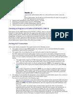 SAP Authorization Check
